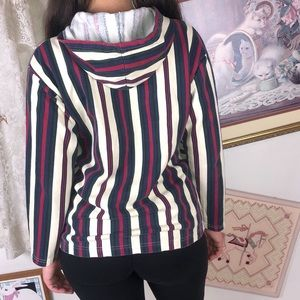 Vintage 90s Aesthetic Striped Primary Red Blue 90s
